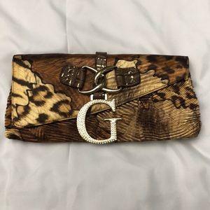 Guess Leopard Clutch